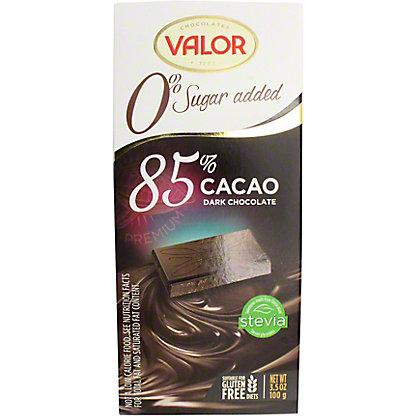 Valor Sugar-free 85% Supreme Dark Chocolate Bar, 3.5 OZ