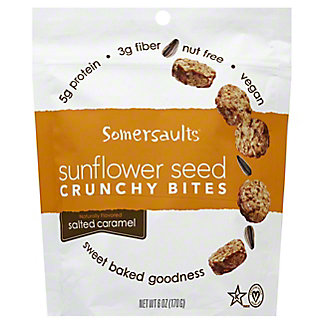 Somersaults Salted Caramel Sunflower Crunchy Bites, 6 oz