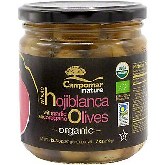 Campomar Natural Organic Hojiblanca Olives, 12.3 Oz