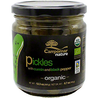 Campomar Nature Organic Pickles With Cumin& & Black Pepper, 12.3 oz