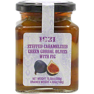1921 Stuffed Green Queen Olives With Fig, 10.5 OZ