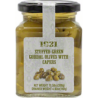 1921 Stuffed Green Queen Olives With Capers, 10.5 OZ