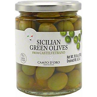 Campo D'Oro Sicilian Green Olives, 10.6 OZ