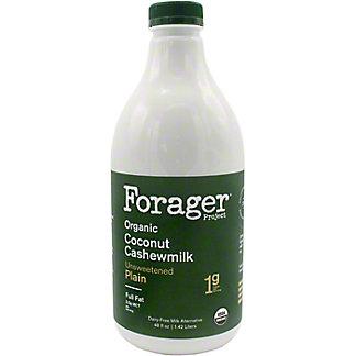 Forager Full Fat Cashewmilk Unsweetened Plain, 48 OZ