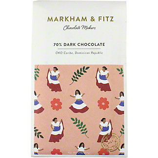 Markham & Fitz 70% Dominican Republic Chocolate Bar, 2 OZ.