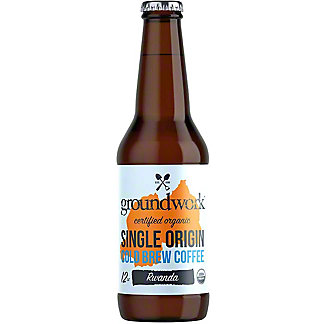 Groundwork Coffee Cold Brew Single Origin Rwanda, 12 oz