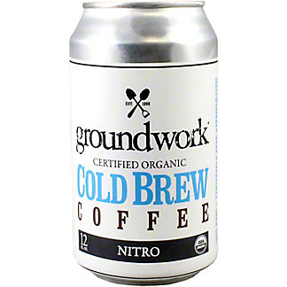 Groundwork Coffee Cold Brew Nitro Organic, 12 oz