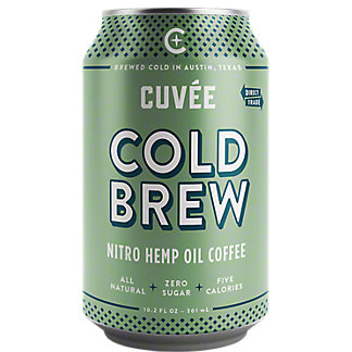 Cuvee Coffee Cold Brew Nitro Hemp Oil Coffee, 10.2 oz
