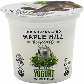 Maple Hill Creamery Organic Plain Whole Milk Yogurt, 5.3 oz