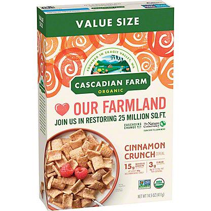 Cascadian Farm Organic Cinnamon Crunch Cereal Family Size, 16 oz