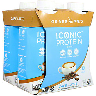 Iconic Protein Drink Cafe Latte 4pk, 11 oz