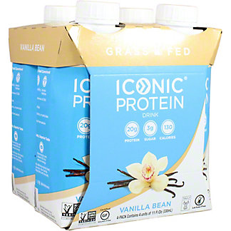 Iconic Protein Drink Vanilla Bean 11 oz Cartons, 4 pk