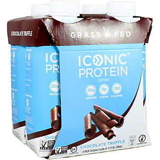 Iconic Protein Drink Chocolate Truffle 11 oz Cartons, 4 pk