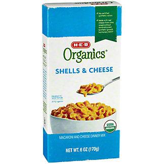 H-E-B Organics Shells & Cheese, 6 oz