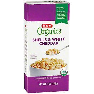 H-E-B Organics Shells & White Cheddar Cheese, 6 oz