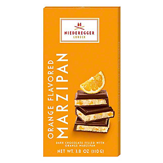 Niederegger Orange Flavored Marzipan Dark Chocolate bar, 3.88 oz
