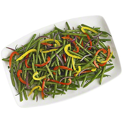 French Green Beans With Peppers, Serves 6-8