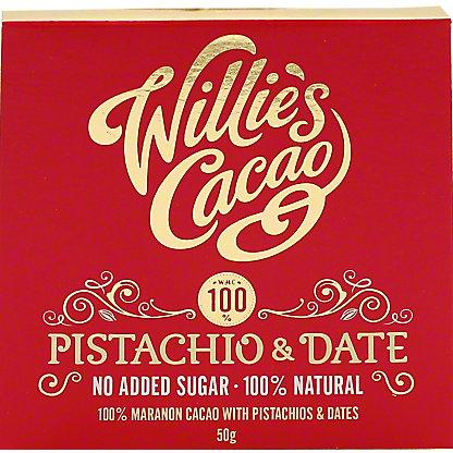 Willie's Cacao Pistachio & Date 100%, 50 g