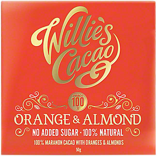 Willies Cacao Orange & Almond 100%, 50 g
