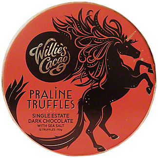 Willie's Cacao Dark Chocolate Praline Truffles, 110 gr