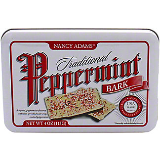 Nancy Adams Traditional Peppermint Bark Tin, 4 oz