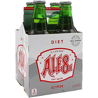 Ale 8 One Diet Soda, 4 pk