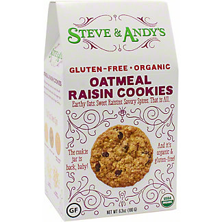 Steve And Andy's Organic Oatmeal Raisin Cookies, 6.3 OZ