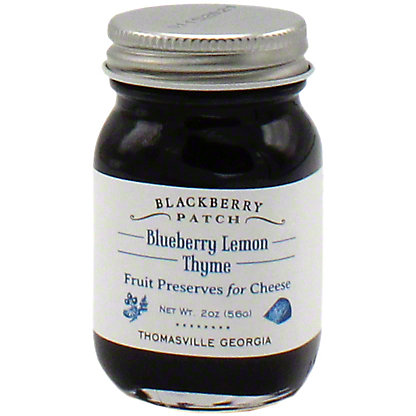 Blackberry Patch Blueberry Lemon Thyme Fruit Preserves For Cheese, 2 OZ