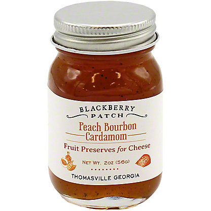 Blackberry Patch Peach Bourbon Cardamom Fruit Preserves For Cheese, 2 OZ