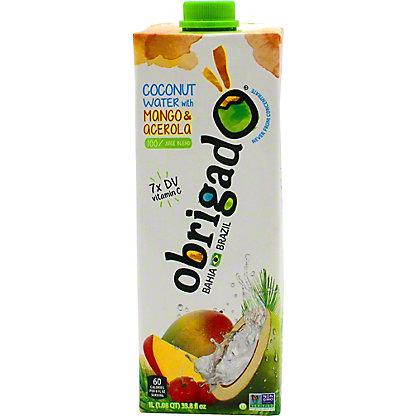 Obrigado Mango Acrla Coconut Water, 1 L