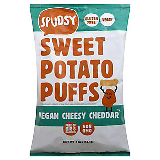 Spudsy Sweet Potato Puffs Cheddar, 4 OZ