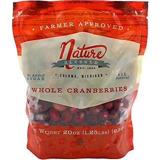 Nature Blessed Frozen Whole Cranberries, 20 oz