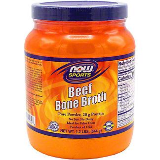 Now Beef Bone Broth Powder, 1.2 LB