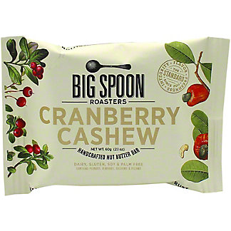 Big Spoon Roasters Nut Butter Cranberry Cashew Bar, 60 g