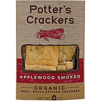 Potters Crackers Applewood Smoked Crackers, 5 OZ