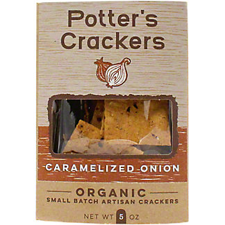 Potters Crackers Caramelized Onion Crackers, 5 OZ