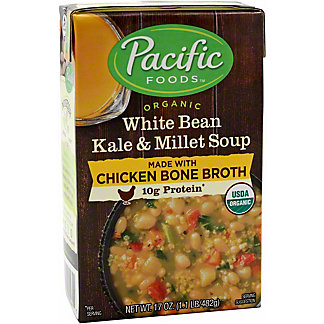 Pacific Chicken Bone Broth White Bean Kale & Millet, 17 oz
