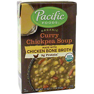 Pacific Chicken Bone Broth Curry Chickpea, 17 OZ