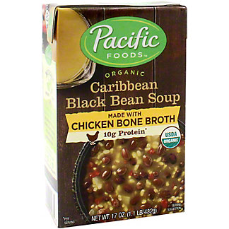 Pacific Chicken Bone Broth Caribbean Black Bean, 17 oz
