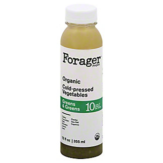 Forager Project Green & Greens Organic Cold-Pressed Vegetables juice, 12 oz