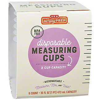Simply Prep by H-E-B Disposable Measuring Cups, 6 ct