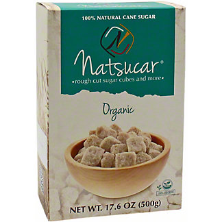Natsucar Organic Rough Cut Sugar Cubes, 17.6 oz
