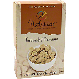 Natsucar Sugar Cubes Rough Cut Turbinatdo/Demerara, 17.6 oz