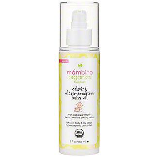 Mambino Organics Ultra Sensitive Baby Oil, 5 OZ