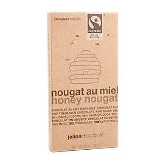 Jelina Chocolatier Honey Nougat Milk Chocolate Bar, 3.35 oz