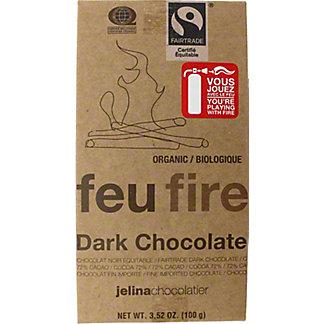 Jelina Fire Dark 72% Dark Chocolate Bar, 3.52 OZ