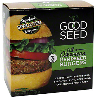 Good Seed  All American Hemp Burger, 10.5 OZ