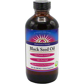 Heritage Store Organic Black Seed Oil, 8 OZ
