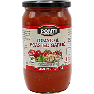 Ponti Sauce Pasta Tomato Roasted Garlic, 24.3 OZ