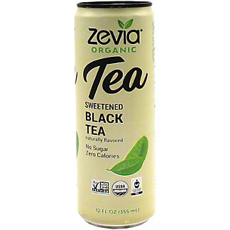 Zevia Organic Sweetened Black Tea, 12 oz